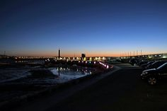 Margate Harbour arm at night