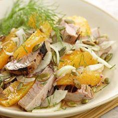 Grilled Pork Tenderloin Salad - EatingWell.com