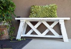 Want to spice up your garden or patio? Check out this #DIY bench. Read how here: http://www.hertoolbelt.com/double-x-bench-plans/#utm_sguid=173798,34bb93d7-fd7b-d992-b046-af52856a60d7