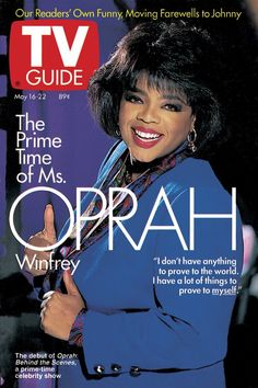 May 16, 1992. Oprah Winfrey. ( TV GUIDES!!!!) - Then when cable started getting popular... You had the 'scroller', which got annoying! Eventually, technology make our lives easier...