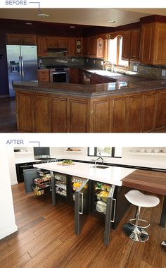 Before and After Kitchen Remodel Project featuring U-Line Undercounter Refrigeration Poducts