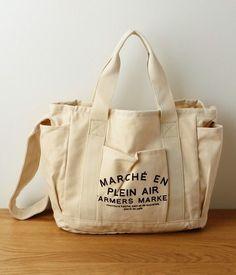 REEBOK Yoga Tote Chalk Large Canvas Shopper Graphic Print Cotton Shoulder Bag