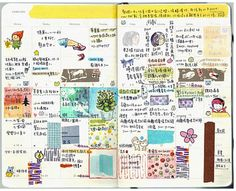 Calendar Journalling - I love this (even if I can't read it)