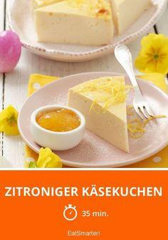 Zitroniger Käsekuchen - smarter - Zeit: 35 Min. | http://eatsmarter.de