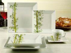 Aparelho de Jantar 30 Peças Porcelana - Oxford Quartier Bamboo