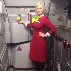 S7 airlines stewardess