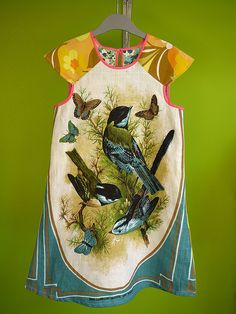 the most GORGEOUS tea towel dress