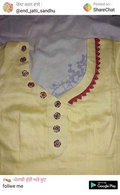 Churidhar Neck Designs, Neck Designs For Suits, Neckline Designs, Blouse Neck Designs, Hand Designs, Neck Patterns For Kurtis, Kurta Patterns, Salwar Pattern, Kurti Sleeves Design