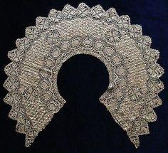 Antique collar, Maltese lace 'bertha'  silk - late19th century.  A large impressive collar.. £85.00, via Etsy.