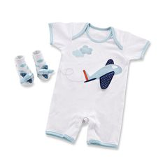 3dc82996a6b Baby Aspen Boys Li l Jet Setter Bodysuit and Sock Gift Set - Babies