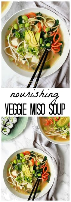 Healthy vegan miso soup. The best soup for colds.