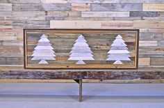 LARGE Three Tree Reclaimed Wood Wall Hanging.    What you see is what you get.  Hand crafted in our shop.  Ready to ship.    Made out of a