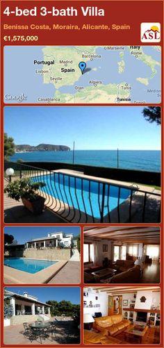 4-bed 3-bath Villa in Benissa Costa, Moraira, Alicante, Spain ►€1,575,000 #PropertyForSaleInSpain