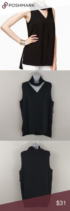 Alfani Cutout Choker Neck Sleeveless Blouse Size information: Women's Size 18 (US)  Condition Notes: New with Tags  We will consider all reasonable offers. Thanks for shopping with us! Alfani Tops Blouses