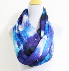 Hey, I found this really awesome Etsy listing at http://www.etsy.com/listing/120937604/blue-galaxy-infinity-scarf-infinity