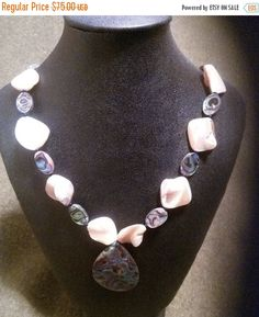 SALE 20 inch mother of pearl abalone and by RoxanneRockingJewels