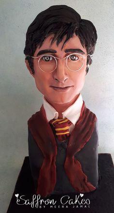 Harry Potter sculpted bust cake!