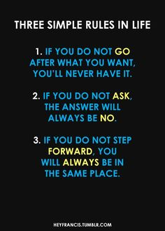 """journey-to-muscles: """" Rules to live by """""""