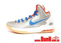low priced 65ef1 ffa25 Nike KD V Birch Photo Blue Sail Team Orange