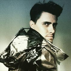Synthetic leather bomber jacket!