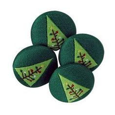 fabric covered christmas buttons