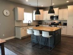 Kitchen refinished by Chameleon Painting SLC UT. Laundry Room Cabinets, Kitchen Cabinets, Slc, Chameleon, Pictures, Table, Painting, Furniture, Home Decor
