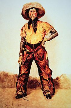 Texas Cowboy Poster featuring the painting Texas Cowboy by Frederic Remington