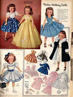 Vintage doll clothes pattern