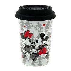 Mickey and Minnie Mouse Portable Valentine's Mug   Drinkware   Disney Store
