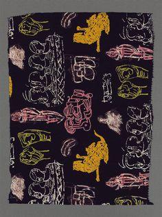 Dress fabric - Ascher, Henry Moore. c. 1945