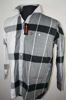*3 Kamro Hemd 23239-220 4+5+12XL schwarz/grau/weiß