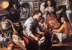 Joachim Beuckelaer, Cristo en casa de Marta y María (1565)