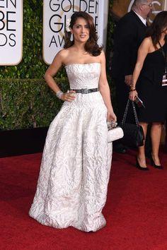 Salma Hayek in Alexander McQueen at the Golden Globes 2015