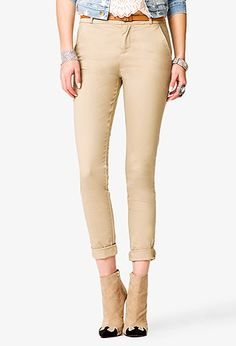 Belted Cigarette Pants | FOREVER 21 - 2036984910