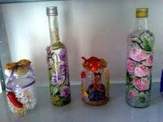 vidros reciclados e decorados - Pesquisa Google