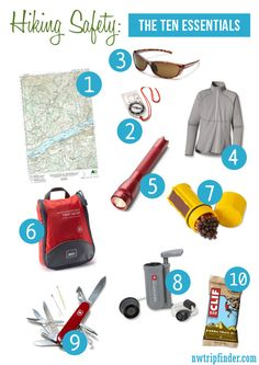"""Before you go hiking this weekend review these Hiking Safety Tips and pack the """"Ten Essentials"""""""