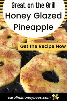 Grilled Pineapple Recipe, Pineapple Recipes, Honey And Cinnamon, Raw Honey, Recipe For Honey Glaze, Eating Raw, Healthy Eating, Cooking With Honey, Types Of Honey