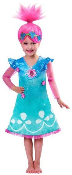 Dress up like one of the Trolls with this Trolls Poppy Dress and Wig. Troll fans will love the glittery detail and wig with a headband. We know how important it is for you to get what you ordered and get it fast. | eBay!