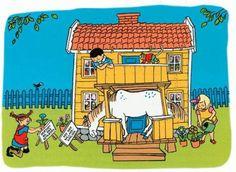 Pipi Langstrømpe i Humlegården  ~~~  Børnebog af Astrid #Lindgren. Illustreret af Ingrid Nyman. 21 s. Kr. 98.50. Carlsen. Pippi Longstocking, Chapter Books, Illustrations And Posters, Children's Book Illustration, My Children, Childhood Memories, Childrens Books, Art For Kids, Nostalgia