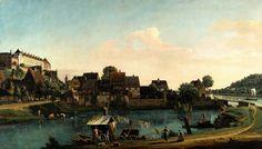 (Venezia 1722 - Varsavia 1780) Pirna dalla Fortezza di Sonnenstein 1753-1755 olio su tela; 133 x 234 cm Dresden, Staatliche Kunstsammlungen, Gemäldegalerie Alte Meister, 625