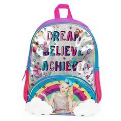 """Kids JoJo Siwa """"Dream Believe Achieve"""" Backpack, Multicolor"""