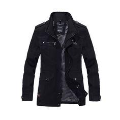 2016 Hommes Slim Fit Veste Manteaux Marque Survêtement Col montant Casual Manteaux Jaqueta Roupas Masculinas Mâle Vêtements À L'extérieur M-4XL