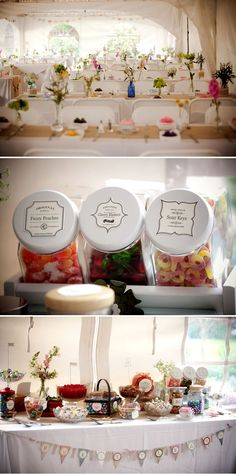 Gotta love a good candy bar – #wedding idea