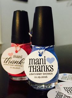Mani Thanks | Nail Polish Tag for Baby Shower, Bachelorette Party, Bridesmaids Gift, Bridal, Wedding Shower