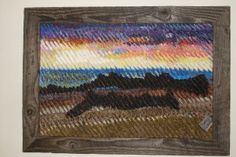 Adrift in Time - This one is not for sale. My second professionally framed masterpiece. This is another one of my faux chenille fabric art pieces. This one is of Point Pelee.