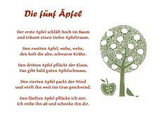Fingerspiel zum Thema Apfel | Lieder und Fingerspiele | Pinterest ...