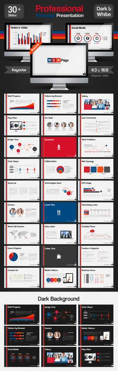 Professional Web Page Presentation Keynote — Keynote KEY #charts #interactive • Available here → https://graphicriver.net/item/professional-web-page-presentation-keynote/4331926?ref=pxcr