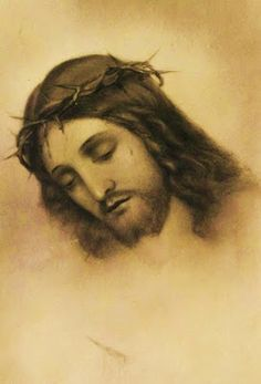 Devotion to the Holy Face of Jesus: The tragedy of Calvary. Religious Images, Religious Icons, Holy Week Images, Pictures Of Jesus Christ, Jesus Face, Christian Religions, Light Of The World, Christian Art, Drawings