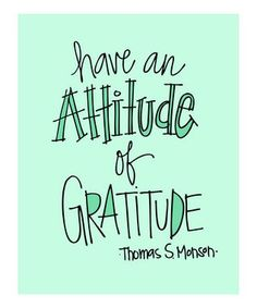 Gratitude- all year long!