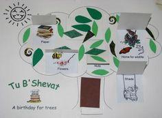 Tu B'Shevat Tree with flaps